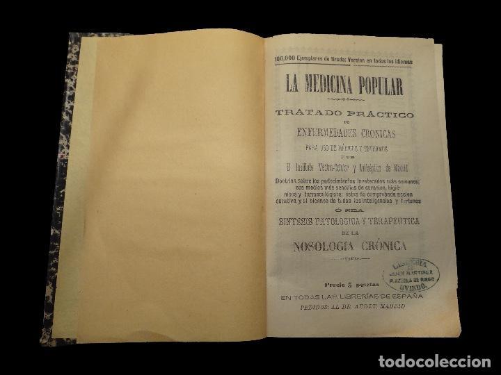 LA MEDICINA POPULAR, 1892.LIBRERÍA DE JUAN MARTINEZ, OVIEDO (Libros Antiguos, Raros y Curiosos - Ciencias, Manuales y Oficios - Medicina, Farmacia y Salud)