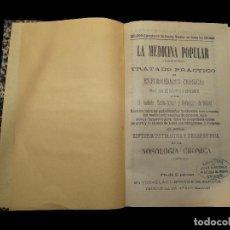 Libros antiguos: LA MEDICINA POPULAR, 1892.LIBRERÍA DE JUAN MARTINEZ, OVIEDO. Lote 75908243