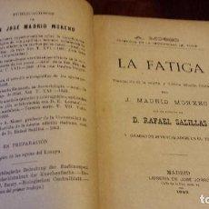 Libros antiguos: LA FATIGA. MOSSO, A. (1893). Lote 76039703