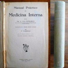 Libros antiguos: DOMARUS, A. VON. MANUAL PRÁCTICO DE MEDICINA INTERNA. Lote 77392621