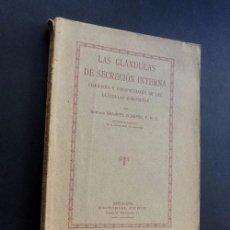 Libros antiguos: LAS GLANDULAS DE SECRECION INTERNA ( ENDOCRINAS ) E. SHARPEY / BARCELONA 1923 / 109 FIGURAS. Lote 77729733