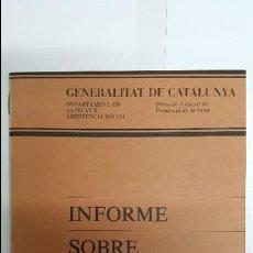 Libros antiguos: ANTIGUO INFORME DE LA GENERALITAT DE CATALUNYA - SOBRE LA VEROLA -. Lote 79550733