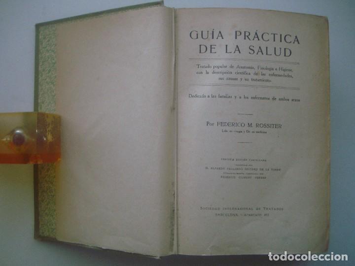 Libros antiguos: LIBRERIA GHOTICA. ROSSITER. GUÍA PRÁCTICA DE LA SALUD. TRATADO ILUSTRADO CON MUCHOS GRABADOS. - Foto 2 - 80296777