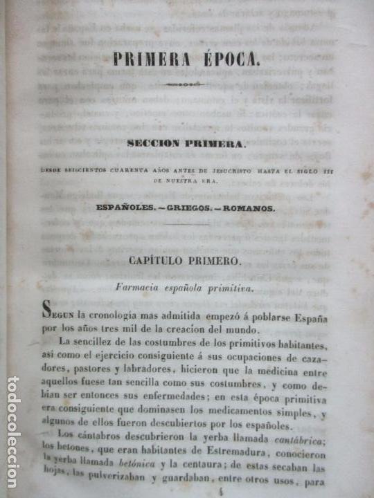 Libros antiguos: ENSAYO SOBRE LA HISTORIA DE LA FARMACIA. QUINTIN CHIARLONE Y CARLOS MALLAINA. 1847. - Foto 3 - 80486093