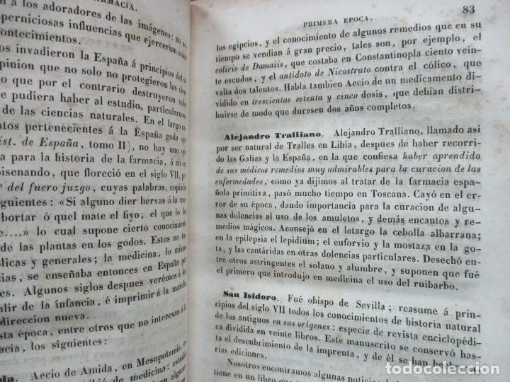 Libros antiguos: ENSAYO SOBRE LA HISTORIA DE LA FARMACIA. QUINTIN CHIARLONE Y CARLOS MALLAINA. 1847. - Foto 4 - 80486093