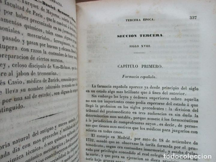 Libros antiguos: ENSAYO SOBRE LA HISTORIA DE LA FARMACIA. QUINTIN CHIARLONE Y CARLOS MALLAINA. 1847. - Foto 6 - 80486093