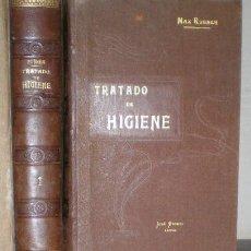 Libros antiguos: RUBNER, MAX: TRATADO DE HIGIENE. 2 VOLÚMENES. Lote 80518505