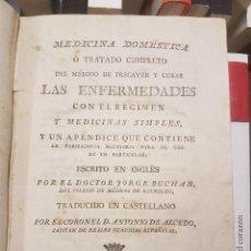 Libros antiguos: MEDICINA DOMÉSTICA.DR.GEORGE BUCHAN. 688 PÁGINAS. 1798 MADRID.. Lote 81833352