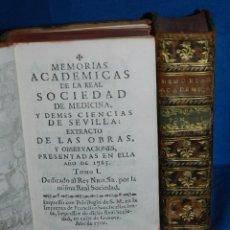 Libros antiguos: (MF) MEMORIAS ACADEMICAS DE LA REAL SOCIEDAD DE MEDICINA Y DEMAS CIENCIAS DE SEVILLA 1765 , COMPLETO. Lote 83369704