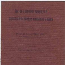 Libros antiguos: MATEO MILANO, ENRIQUE: VALOR DE LA EXPLORACION ROETGEN ... ENFERMEDADES PULMONARES DE LA INFANCIA. Lote 84533324