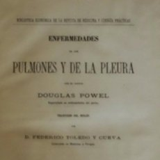 Libros antiguos: 1889 - ENFERMEDADES DE LOS PULMONES Y DE LA PLEURA - 1889. Lote 84961104