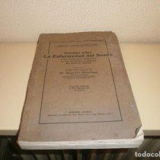 Libros antiguos: ESTUDIOS SOBRE LA ENFERMEDAD DEL SUEÑO TERRITORIOS ESPAÑOLES GOLFO DE GUINEA GUSTAVO PITTALUGA 1910. Lote 85257328