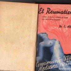Libros antiguos: CONOCIMIENTOS ÚTILES DE MEDICINA NATURAL (1935-1936) 4 NÚMEROS ENCUADERNADOS. Lote 150740294