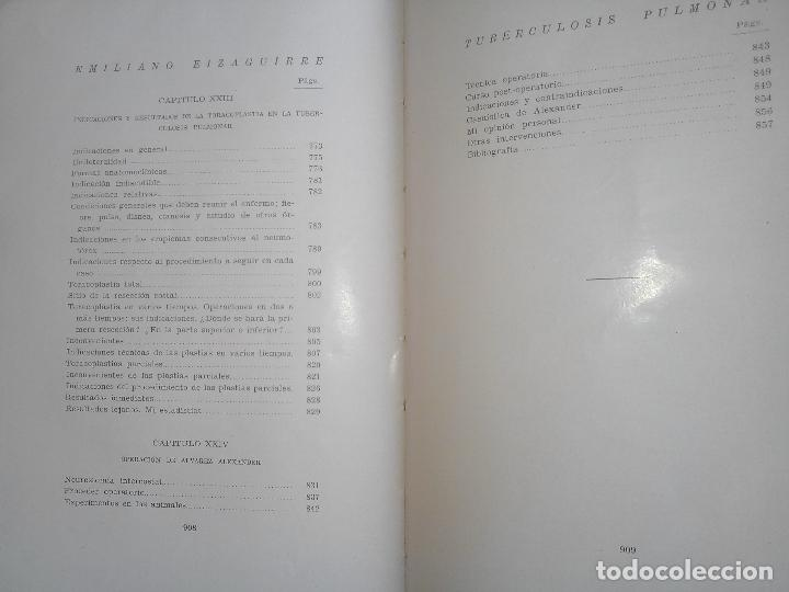 Libros antiguos: Tuberculosis pulmonar - Emiliano Eizaguirre - San Sebastián. 1931. - Foto 2 - 87018890