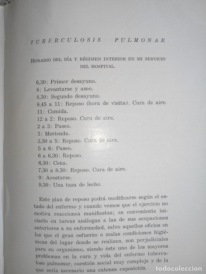 Libros antiguos: Tuberculosis pulmonar - Emiliano Eizaguirre - San Sebastián. 1931. - Foto 3 - 87018890