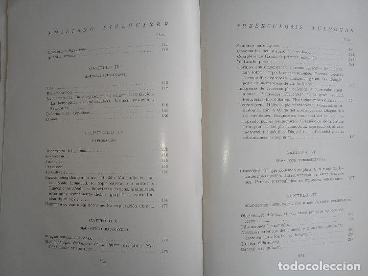 Libros antiguos: Tuberculosis pulmonar - Emiliano Eizaguirre - San Sebastián. 1931. - Foto 6 - 87018890