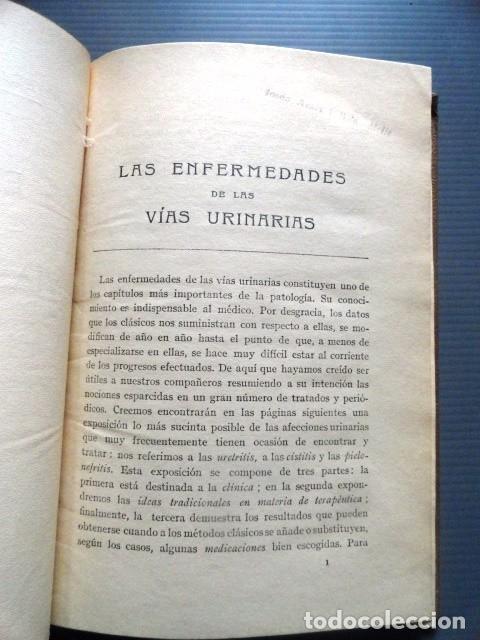 Libros antiguos: LIBRO LAS ENFERMEDADES DE LAS VIAS URINARIAS (MEDICINA, FARMACIA) - Foto 5 - 87651324
