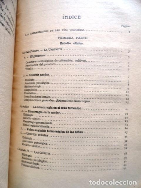 Libros antiguos: LIBRO LAS ENFERMEDADES DE LAS VIAS URINARIAS (MEDICINA, FARMACIA) - Foto 9 - 87651324