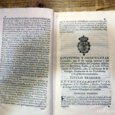 Libros antiguos: AÑO 1764 * COLEGIO DE CIRUJANOS * ESTATUTOS Y ORDENANZAS DE CARLOS III * MEDICINA Y CIRUGIA * 60 PAG. Lote 87742668