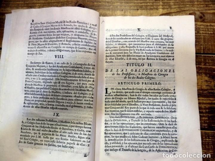 Libros antiguos: año 1764 * COLEGIO DE CIRUJANOS * Estatutos y Ordenanzas de Carlos III * Medicina y Cirugia * 60 pag - Foto 3 - 87742668
