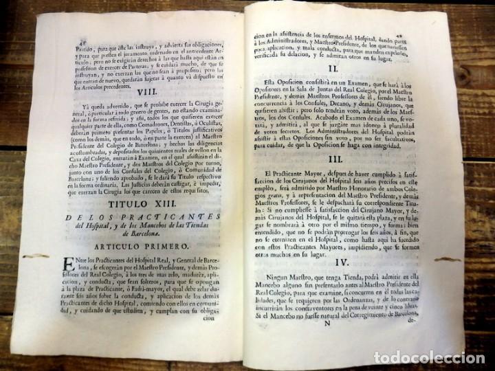 Libros antiguos: año 1764 * COLEGIO DE CIRUJANOS * Estatutos y Ordenanzas de Carlos III * Medicina y Cirugia * 60 pag - Foto 9 - 87742668
