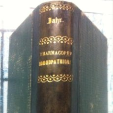 Libros antiguos: JAHR ET CATELLAN. NOUVELLE PHARMACOPEE HOMEOPATHIQUE OU HISTOIRE NATURELLE ... 1853. Lote 89081880