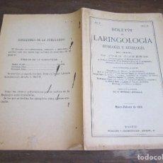 Libros antiguos: LARINGOLOGIA POR DR JUAN CISNEROS 1910. Lote 89493108