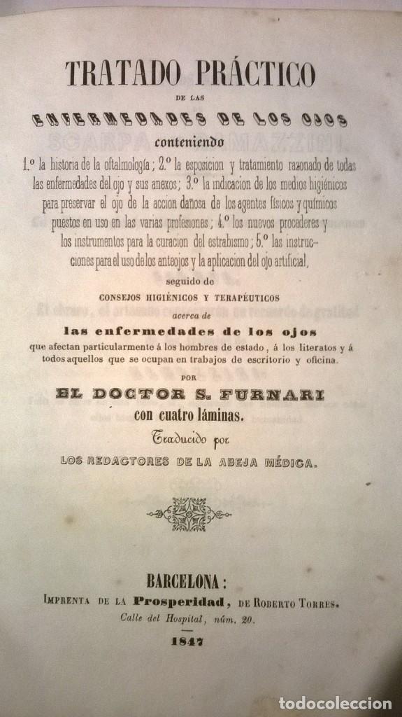 TRATADO PRÁCTICO DE LAS ENFERMEDADES DE LOS OJOS - FURNARI - 1847 (Libros Antiguos, Raros y Curiosos - Ciencias, Manuales y Oficios - Medicina, Farmacia y Salud)