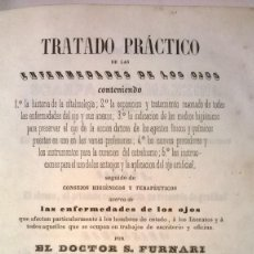 Libros antiguos: TRATADO PRÁCTICO DE LAS ENFERMEDADES DE LOS OJOS - FURNARI - 1847. Lote 89501384