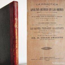 Libros antiguos: ANÁLISIS QUÍMICO EN LAS ORINAS - 1897, PRIMERA EDICIÓN - DOCTOR MANUEL FERNANDEZ CASADEVANTE. Lote 89598828
