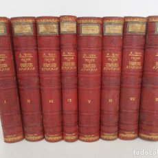 Libros antiguos: TRATADO DE TERAPÉUTICA APLICADA - ALBERTO ROBIN - JOSÉ ESPASA EDITOR - 8 TOMOS - COMPLETA - AÑO 1886. Lote 90123432