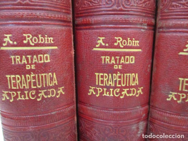 Libros antiguos: Tratado de Terapéutica Aplicada - Alberto Robin - José Espasa Editor - 8 Tomos - Completa - Año 1886 - Foto 37 - 206259152