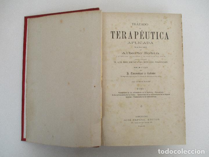 Libros antiguos: Tratado de Terapéutica Aplicada - Alberto Robin - José Espasa Editor - 8 Tomos - Completa - Año 1886 - Foto 53 - 206259152