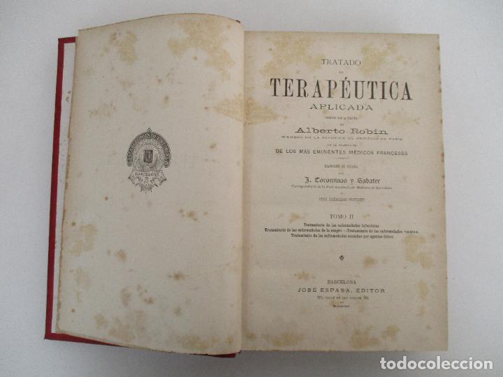 Libros antiguos: Tratado de Terapéutica Aplicada - Alberto Robin - José Espasa Editor - 8 Tomos - Completa - Año 1886 - Foto 23 - 206259152