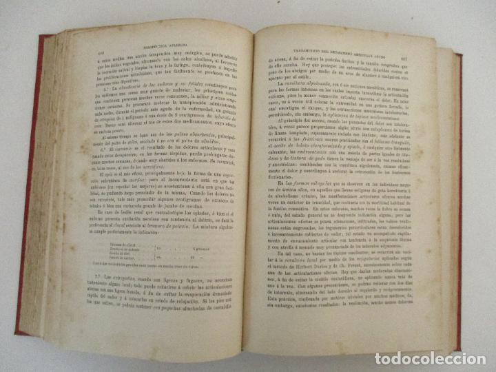 Libros antiguos: Tratado de Terapéutica Aplicada - Alberto Robin - José Espasa Editor - 8 Tomos - Completa - Año 1886 - Foto 24 - 206259152