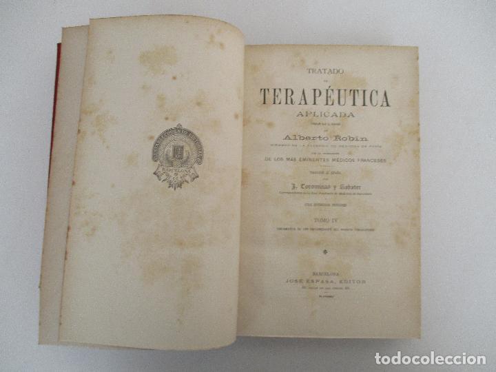 Libros antiguos: Tratado de Terapéutica Aplicada - Alberto Robin - José Espasa Editor - 8 Tomos - Completa - Año 1886 - Foto 44 - 206259152