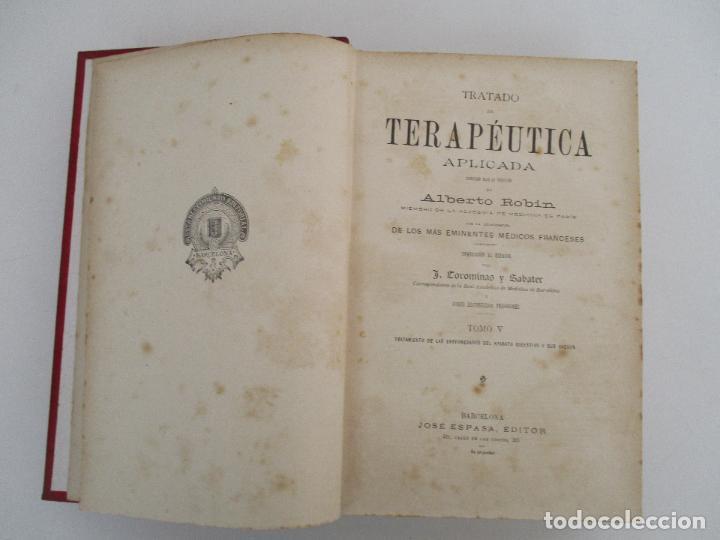 Libros antiguos: Tratado de Terapéutica Aplicada - Alberto Robin - José Espasa Editor - 8 Tomos - Completa - Año 1886 - Foto 12 - 206259152