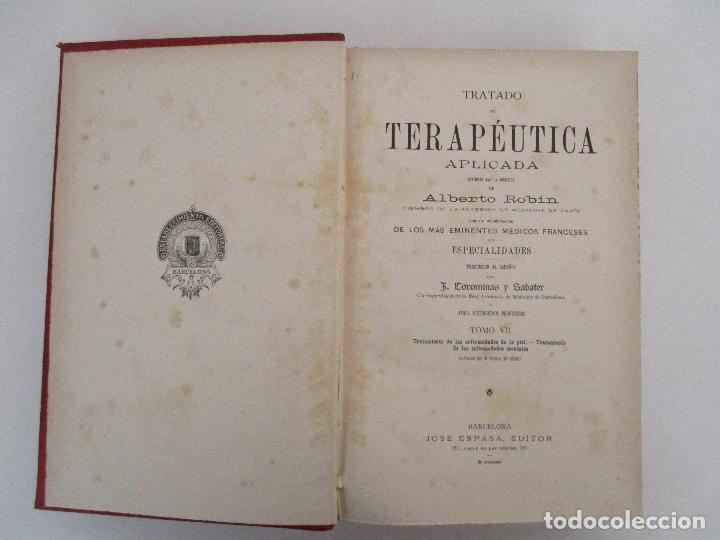 Libros antiguos: Tratado de Terapéutica Aplicada - Alberto Robin - José Espasa Editor - 8 Tomos - Completa - Año 1886 - Foto 62 - 206259152