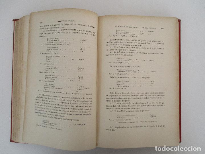 Libros antiguos: Tratado de Terapéutica Aplicada - Alberto Robin - José Espasa Editor - 8 Tomos - Completa - Año 1886 - Foto 63 - 206259152