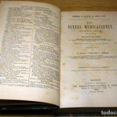 Libros antiguos: LAS NUEVAS MEDICACIONES (PRIMERA PARTE) POR EL DOCTOR DUJARDIN-BEAUMETZ.1891.. Lote 90228200