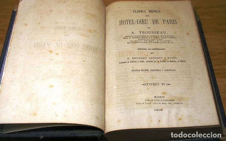 CLINICA MEDICA DEL HOTEL-DIEU DE PARIS POR A.TROUSSEAU TOMO II (1868) (Libros Antiguos, Raros y Curiosos - Ciencias, Manuales y Oficios - Medicina, Farmacia y Salud)