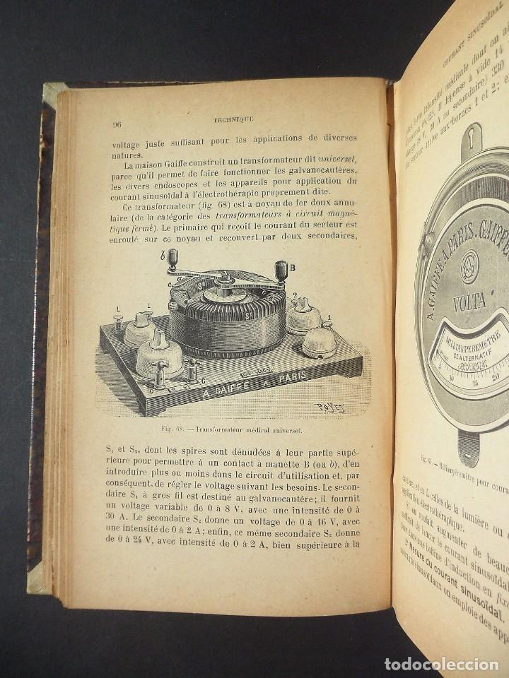 Libros antiguos: 1901 Précis d'électricité médicale Technique d'Électrophysiologie - medicina - Foto 4 - 90471139
