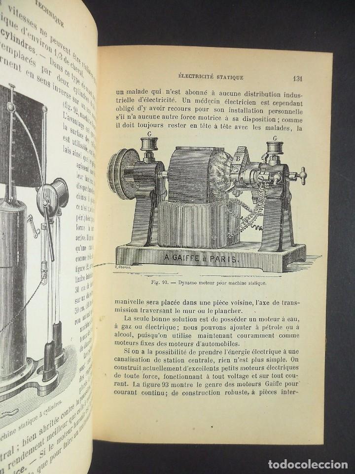 Libros antiguos: 1901 Précis d'électricité médicale Technique d'Électrophysiologie - medicina - Foto 5 - 90471139