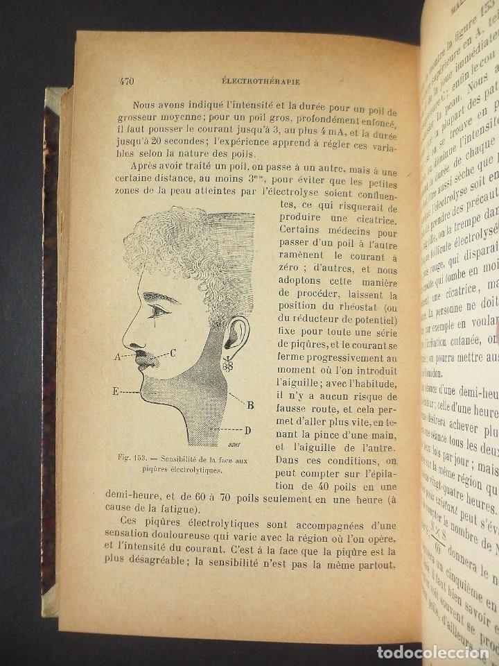 Libros antiguos: 1901 Précis d'électricité médicale Technique d'Électrophysiologie - medicina - Foto 7 - 90471139
