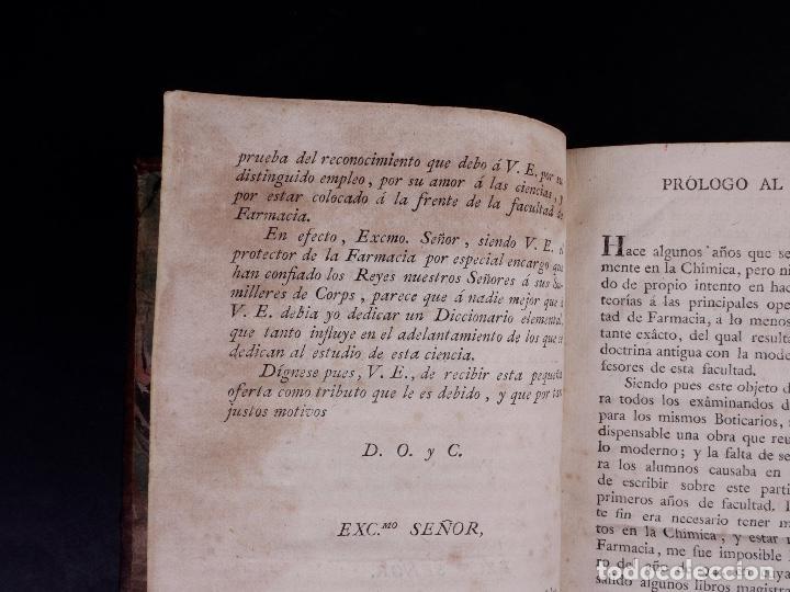 Libros antiguos: DICCIONARIO DE FARMACIA, TOMO PRIMERO, MADRID 1798 - Foto 4 - 90556225