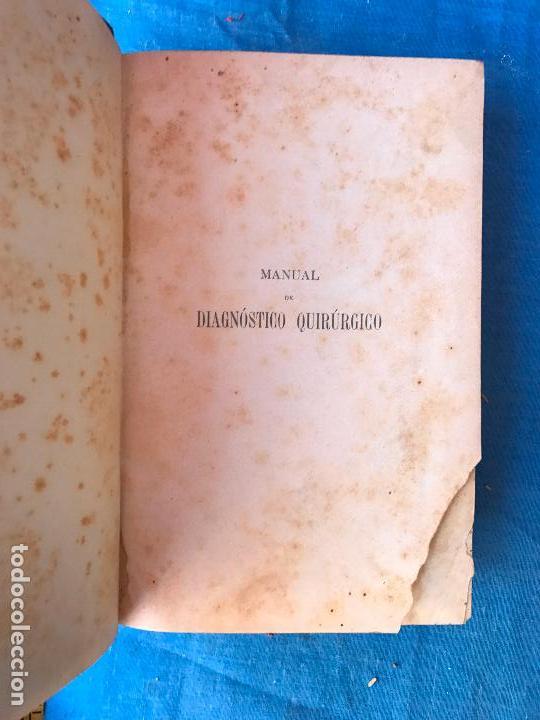 Libros antiguos: MANUAL DE DIAGNÓSTICO QUIRURGICO. ANATOMÍA CLÍNICA 1895 - Foto 4 - 90665785