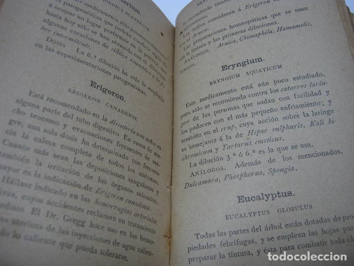 Libros antiguos: XIX Homeopatia . Medicamentos - Primera Farmacia homeopatica de España - Vda. de Somolinos Madrid - Foto 3 - 90676330