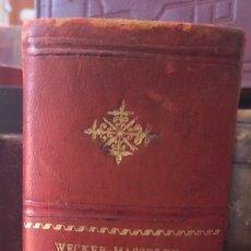 Libros antiguos: MANUEL.D'OPHTHAOLOGIE.WECWER ET MASSELON (1889). Lote 90819052