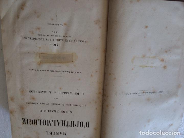 Libros antiguos: Manuel.Dophthaologie.Wecwer et Masselon (1889) - Foto 7 - 90819052