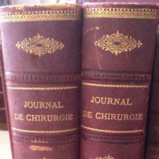 Libros antiguos: JOURNAL DE CHIRUGIE-TOMOS 1Y2 (1913). Lote 90820369